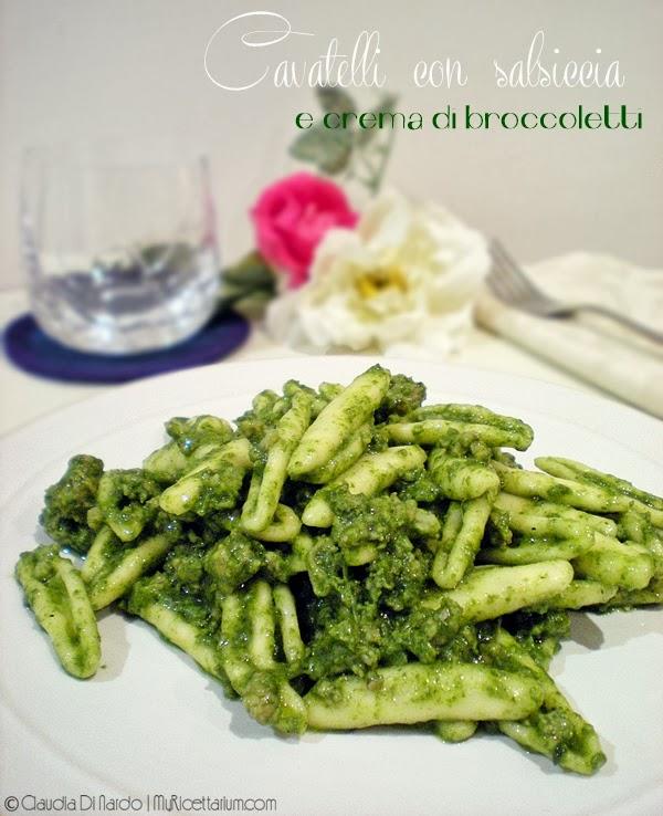 Cavatelli con salsiccia e crema di broccoletti