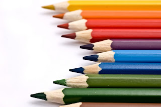 This is a photograph of colored pencils.