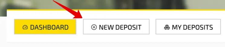 Создание депозита в AtCoin