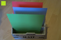 Papier: Eurosell Holz Schreibtischorganizer Brief Post Ablage Briefablage Postablage Briefständer Vintage Retro Design Designer Dokumenten Prospekte Ständer