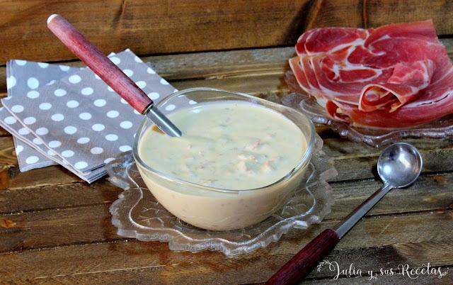 Salsa de jamón serrano para carnes. Julia y sus recetas