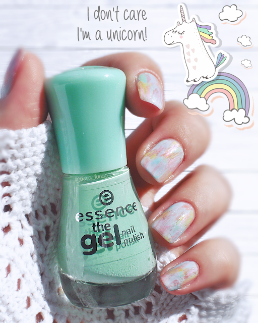 unicorn nails - essence 03 give me nude, baby! - essence 38 love is in the air - essence 21 a whisper of spring - essence 39 blue bubble di blue - essence 40 play with my mint - essence 08 whatever!