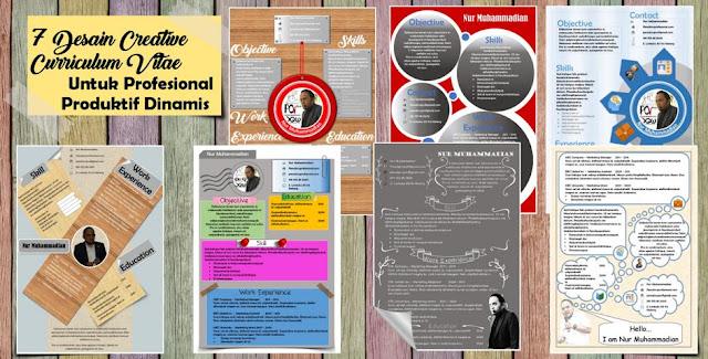 7 Desain Curriculum Vitae Kreatif untuk Profesional Produktif Dinamis