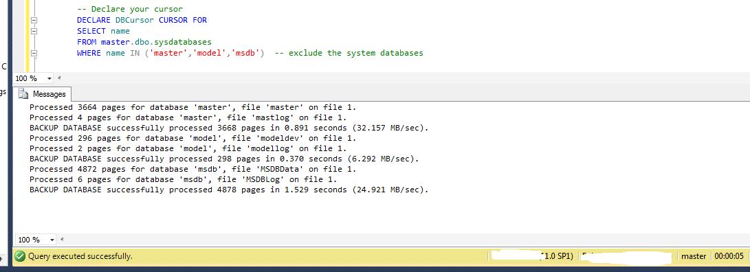 sqlfingers com: Script to backup all SQL Server databases