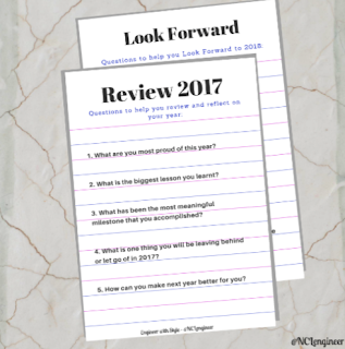 FREE Printable - Review 2017 and Look Forward 2018