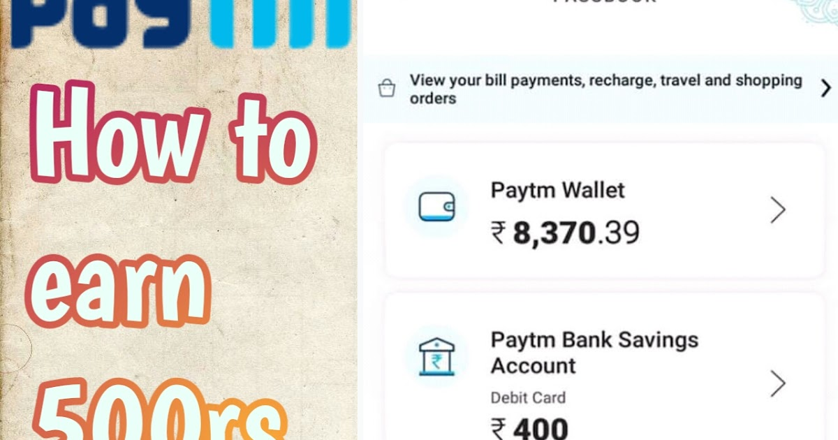 How to earn free paytm cash||Earn 500rs-1000rs daily