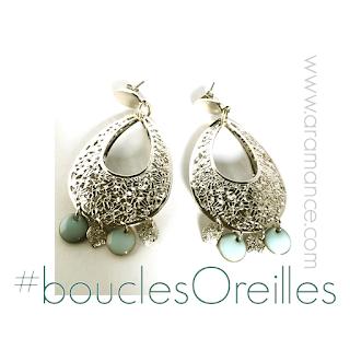 Boucles oreilles perle de culture
