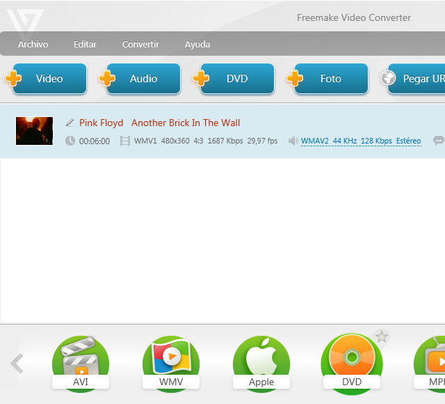 Cortar un vídeo gratis con Freemake Video Converter