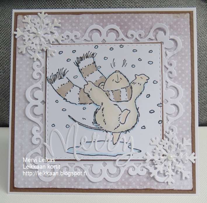 Leikkaan kortit : September Christmas cards!