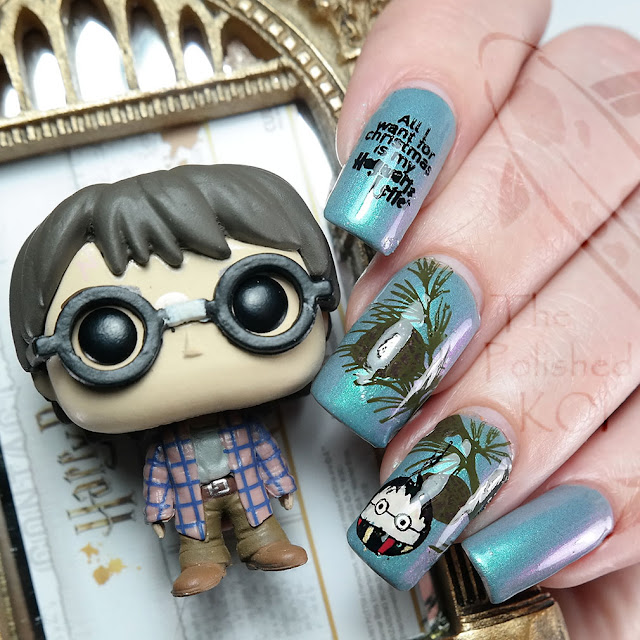 Harry Potter Holiday Nail Art