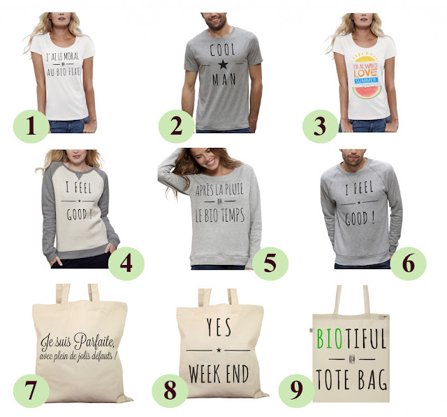 Tshirts Sweat Tote bags bio - ArteCita ECOFashion