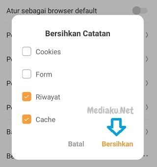 Menghapus Riwayat Di UC Browser