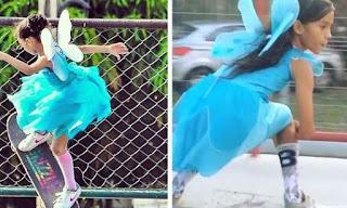 Η 9χρονη Βραζιλιάνα που «ρίχνει» το Internet κάνοντας skate ντυμένη νεράιδα!