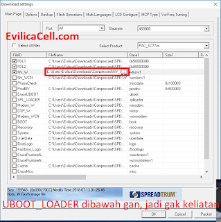 Setting Research Download Tool Advan S50D