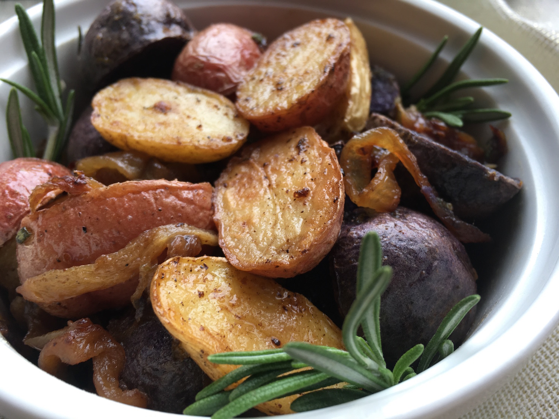 Tri-Color Roasted Rosemary Potatoes Recipe