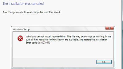 Cara Memperbaiki Pesan Error 0xC0000005, 0x80070017. 0x80070002 Ketika Instal Windows