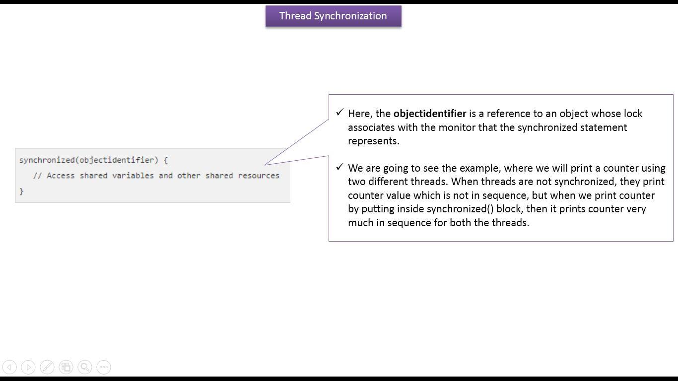 Java ee java tutorial java synchronization synchronization in java tutorial java synchronization synchronization in java synchronized block in javav4 baditri Gallery