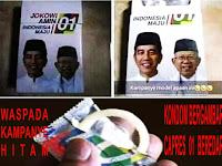 Astaga, Kondom Bergambar Capres 01 Jokowi-Ma'ruf Amin Beredar Di Medsos