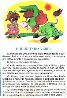 Leitura o burrinho verde