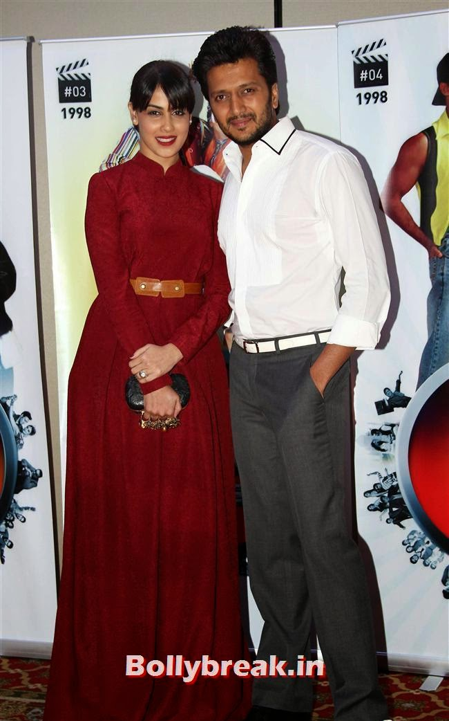 Genelia D Souza and Ritesh Deshmukh, Vashu Bhagnani's Puja Films 25 Film Completion Party