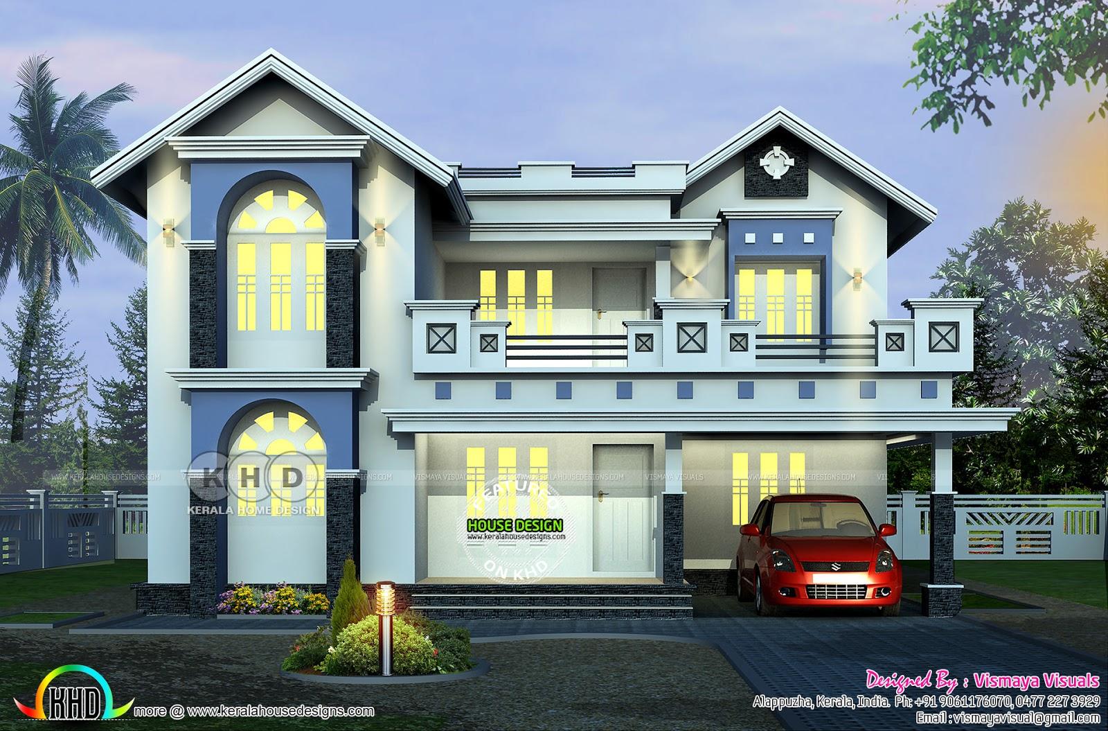 2401 Square Feet 3 Bedroom Decorative Home Plan Kerala