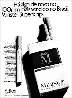 cigarros Minister, propaganda anos 70; história decada de 70; reclame anos 70; propaganda cigarros anos 70; Brazil in the 70s; Oswaldo Hernandez;