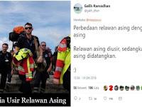 Relawan Asing Diusir Dari Palu, Netizen: Relawan asing diusir, sedangkan pekerja asing didatangkan