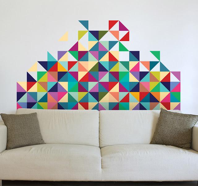 muursticker geometrisch