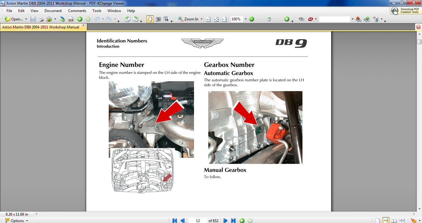Aston Martin Db9 2004-2011 Workshop Manual