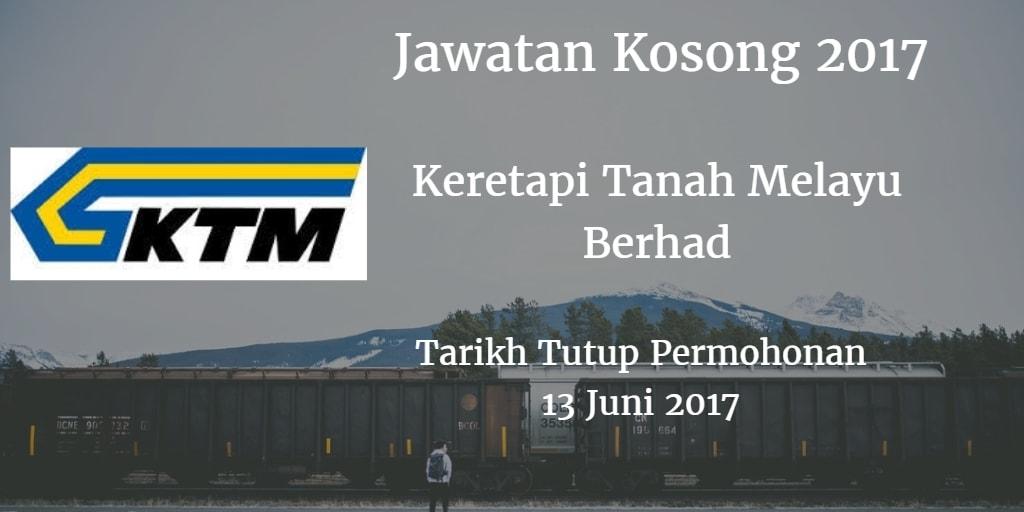 Jawatan Kosong KTMB 13 Juni 2017