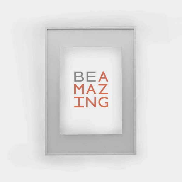 Be Amazing free art printable
