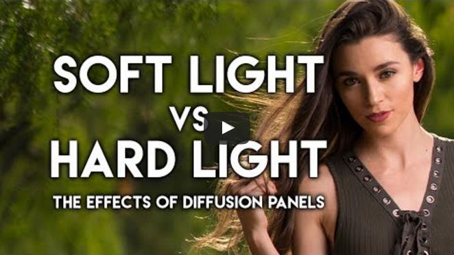 Soft Light VS Hard Light. The Effects of Diffusion Panels