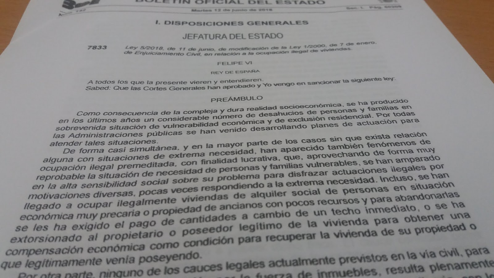 Ramón Sanz De La Cal Abogado Desahucio Por Ocupación Ilegal De Viviendas Ocupas Ley 5 2018