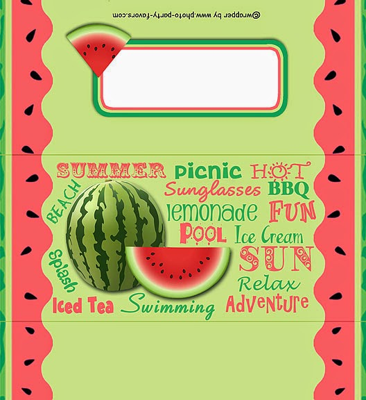 Watermelon Free Printable Labels.