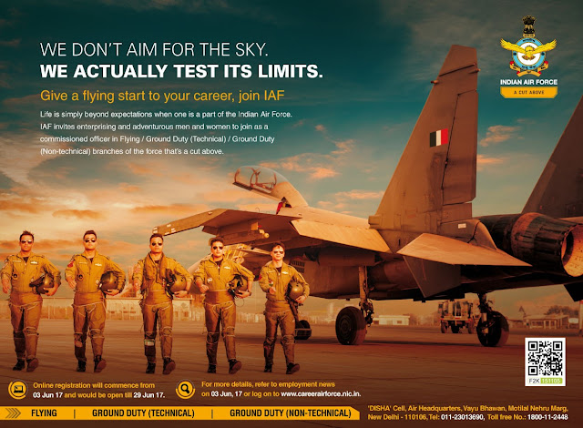 Air Force AFCAT 02/2017 Advertisement