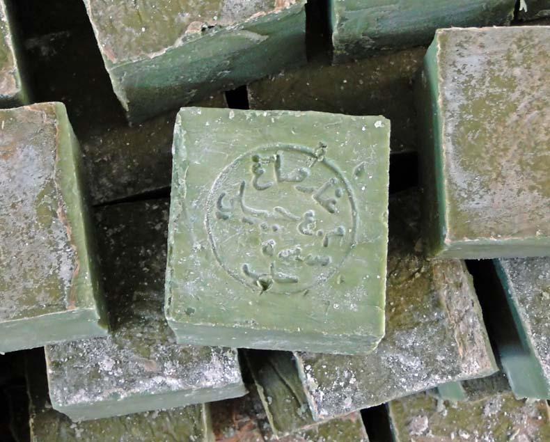 Dentro de una fábrica de jabones de Aceite de Oliva en Siria