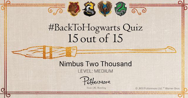 """Attestato del quiz """"Ritorno a Hogwarts - Nimbus Duemila, livello medio"""""""