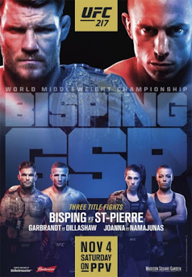 Poster Of UFC 217 Bisping vs St-Pierre Preliminary Fight 4th November 2017 HDTV 480P 300MB