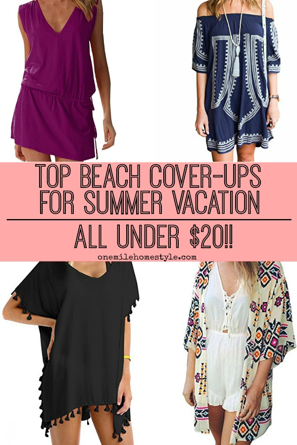 Do you have a beach vacation in your future? Here are the top swimming suit cover-ups for the summer, all under $20!!