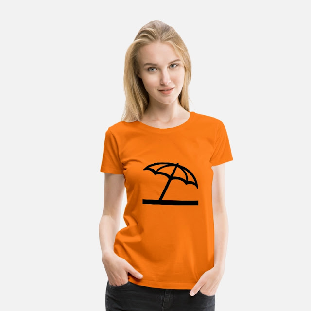 Frauen Premium T-Shirt Strand Symbol Zeichen Form