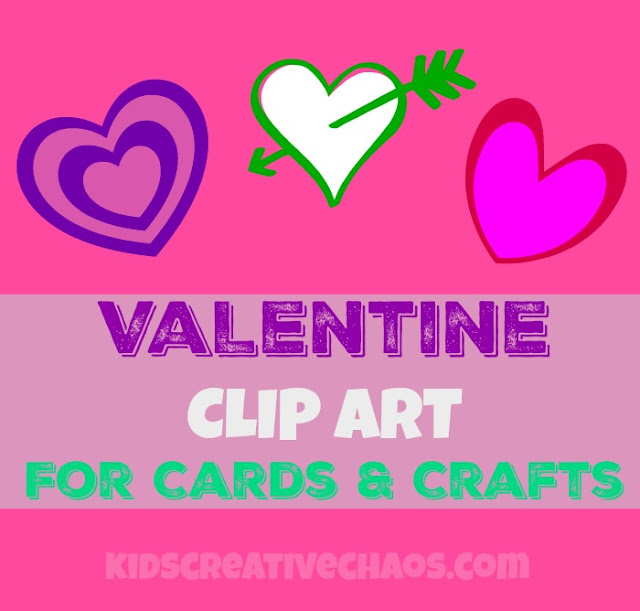 10 Valentine Printable Free Clipart Hearts for Cards and Crafts