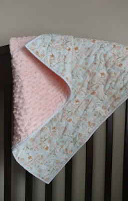 Minky wholecloth quilt made with fabric from Hawthorne Supply Co.