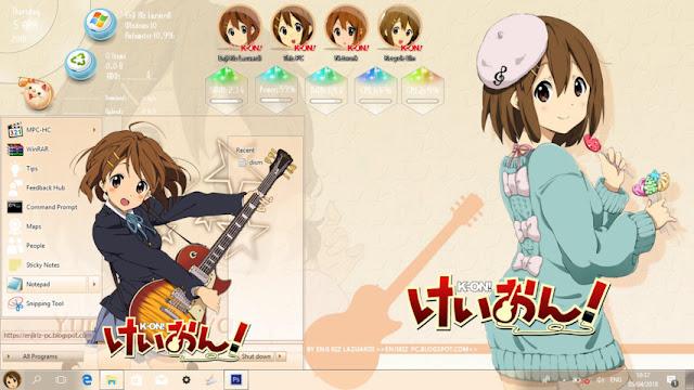 Windows 10 Ver. 1703 Theme K-ON! Hirasawa Yui by Enji Riz