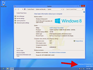 mensagem: Windows 8 pro build 9200
