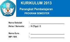 Program Semester Kelas 3 SD/MI Semester 2 Kurikulum 2013 Edisi Terbaru