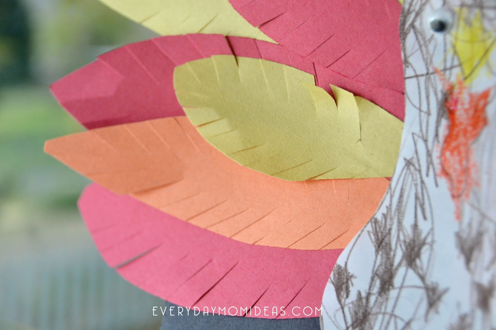 Thanksgiving turkey paper banner sign kids paper craft free