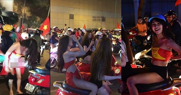 """Dân mạng """"ĐÀO MỘ"""" Facebook gái xinh cởi phăng xiêm y, quấn cờ quanh """"phần nhạy cảm"""" ăn mừng chiến thắng U23 Việt Nam"""
