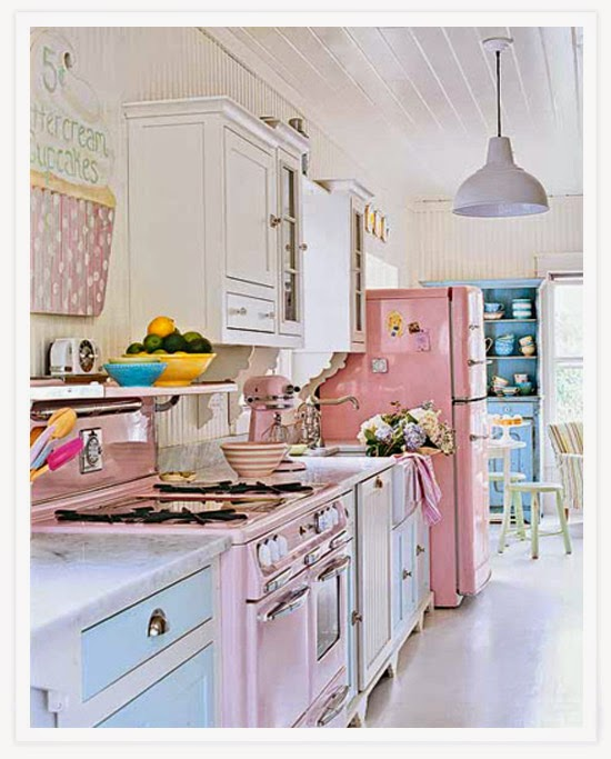 diseño cocina shabby chic