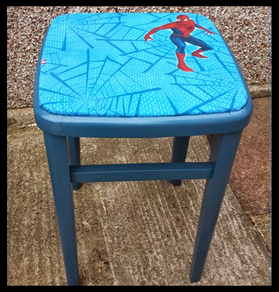 Reupholstering a stool