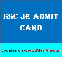 SSC JE 2015 Admit card